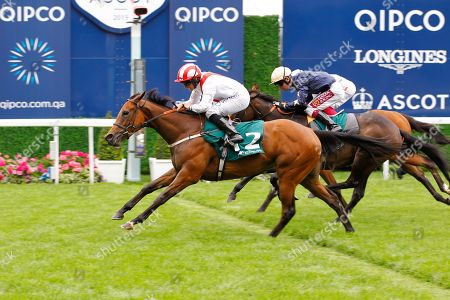 Under The Stars and P J McDonald win the Princess Margaret Stakes at Ascot from Aroha for trainer James Tate.