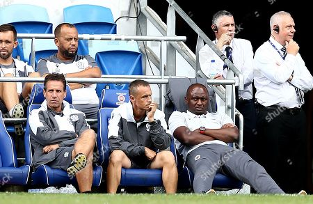 Nice Manager Patrick Vieira slumps in his seat.