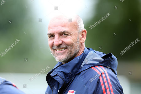 Arsenal under-23s Head Coach Steve Bould during Hitchin Town vs Arsenal, Friendly Match Football at Top Field on 27th July 2019