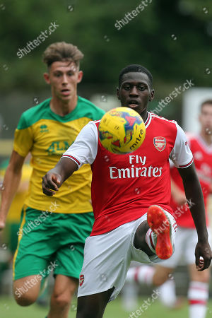 Editorial picture of Hitchin Town vs Arsenal, Friendly Match, Football, Top Field, Hitchin, Hertfordshire, United Kingdom - 27 Jul 2019