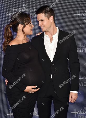 Stock Image of Italia Ricci and Robbie Amell