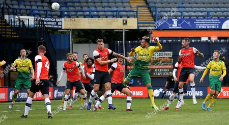 Josip Drmic of Norwich City scores his sides fourth goal