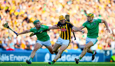 Limerick vs Kilkenny. Limerick's Mike Casey and Dan Morrissey with Colin Fennelly of Kilkenny