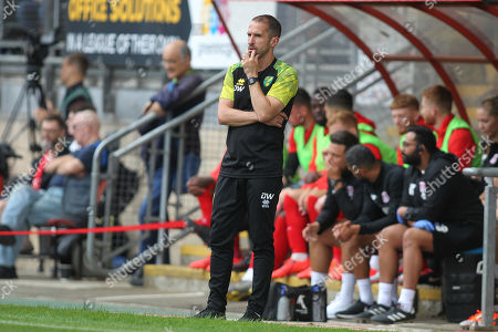 Norwich manager David Wright during Leyton Orient vs Norwich City, Friendly Match Football at The Breyer Group Stadium on 27th July 2019