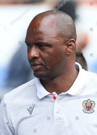 OGC Nice head coach Patrick Vieira at the start of the match