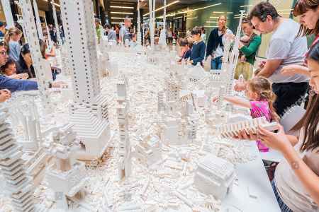 The work comes to the UK for the first time to coincide with the artist's new exhibition, In real life, at Tate Modern; an unmissable survey spanning over 30 years of Eliasson's career. Taking over the Turbine Hall for three weeks, this free interactive artwork invites visitors to unleash their architectural vision for a future city using over one tonne of white Lego bricks.