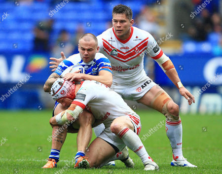 Editorial picture of St Helens v Halifax RLFC, Coral Challenge Cup Semi Final, Rugby League, University of Bolton Stadium, Bolton, UK - 27 Jul 2019