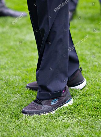 Nicholas Soames, Skechers shoe detail