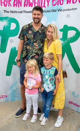 Stock Photo of Alex Goward, Laura Hamilton and children