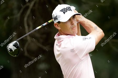 Billy Horschel drives on the fifth hole during the third round of the World Golf Championships-FedEx St. Jude Invitational, in Memphis, Tenn