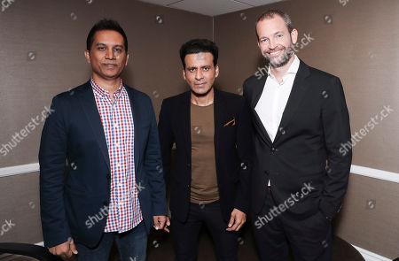 Stock Image of Raj Nidimoru, Manoj Bajpayee and James Farrell