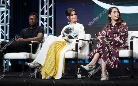 Gary Carr, Anne Hathaway and Cristin Milioti