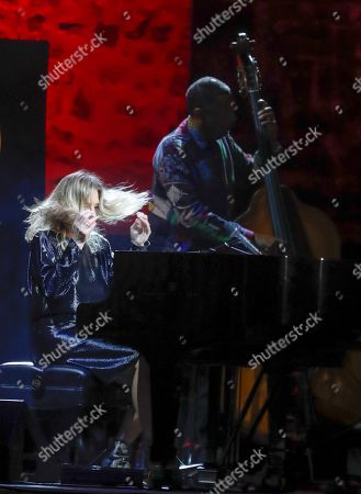 Canadian singer and pianist Diana Krall offers a concert during the fourth day of the 54th San Sebastian Jazzaldia Festival, in San Sebastian, Spain, 27 July 2019.