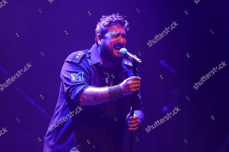 Antonio Orozco performs during a concert in the framework of the Universal Music Festival at Royal Theater in Madrid, Spain, 27 July 2019.