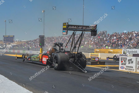 Stock Photo of Terry McMillan leaves the line during the NHRA Sonoma Nationals at Sonoma Raceway in Sonoma, California