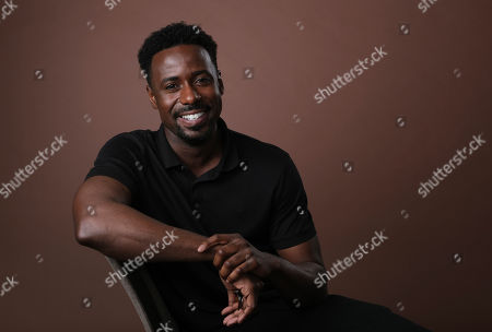 """Gary Carr, a cast member in the Amazon Prime Video anthology series """"Modern Love,"""" poses for a portrait during the 2019 Television Critics Association Summer Press Tour at the Beverly Hilton, in Beverly Hills, Calif"""