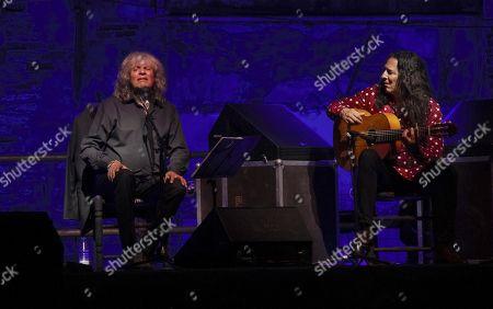 Jose Merce (L) and guitarist Tomatito (R) perform on stage at La Cana Flamenca Festival in Motril, Granada, Andalusia, Spain, 27 July 2019.