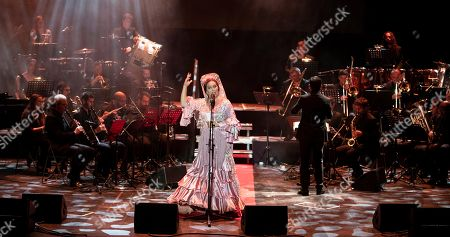 Estrella Morente (C) performs during a concert during the 25th La Mar de Musicas Festival, in Cartagena, Spain, 27 July 2019.