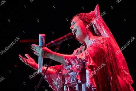 Estrella Morente performs during a concert during the 25th La Mar de Musicas Festival, in Cartagena, Spain, 27 July 2019.