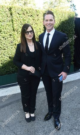 Matt Johnson, right, and guest arrive at the 71st Los Angeles Area Emmy Awards, at the Saban Media Center at the Television Academy's North Hollywood, Calif. headquarters on