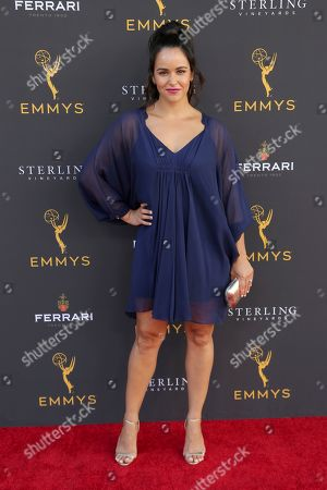 Melissa Fumero arrives at the 71st Los Angeles Area Emmy Awards at the Saban Media Center at the Television Academy's North Hollywood, Calif. headquarters on