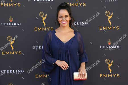 Stock Picture of Melissa Fumero arrives at the 71st Los Angeles Area Emmy Awards at the Saban Media Center at the Television Academy's North Hollywood, Calif. headquarters on