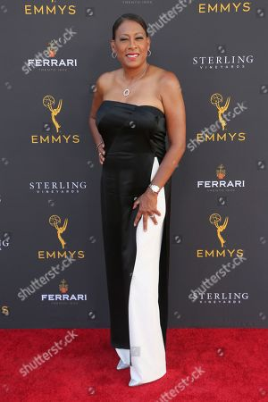 Pat Harvey arrives at the 71st Los Angeles Area Emmy Awards at the Saban Media Center at the Television Academy's North Hollywood, Calif. headquarters on