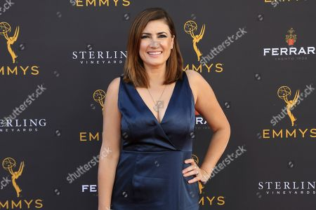 Naibe Reynoso arrives at the 71st Los Angeles Area Emmy Awards at the Saban Media Center at the Television Academy's North Hollywood, Calif. headquarters on