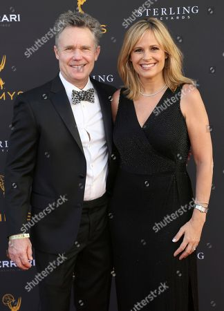 Stock Picture of Carolyn Johnson, Kevin Smith. Carolyn Johnson, right, and Kevin Smith arrive at the 71st Los Angeles Area Emmy Awards at the Saban Media Center at the Television Academy's North Hollywood, Calif. headquarters on