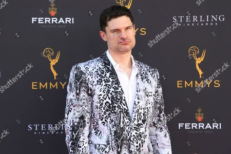 Flula Borg arrives at the 71st Los Angeles Area Emmy Awards at the Saban Media Center at the Television Academy's North Hollywood, Calif. headquarters on