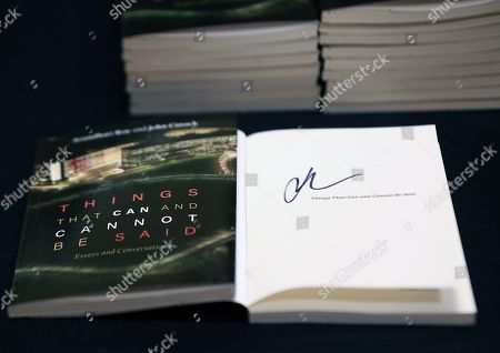 Stock Picture of General view of book on display during A Live Conversation with actor John Cusack at the Broward Center