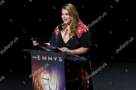 Kether Donohue speaks at the 71st Los Angeles Area Emmy Awards at the Saban Media Center at Television Academy's North Hollywood, Calif. headquarters on