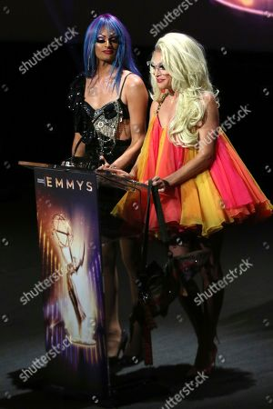 Rhea Litre, Willam. Rhea Litre, left, and Willam speak at the 71st Los Angeles Area Emmy Awards at the Saban Media Center at Television Academy's North Hollywood, Calif. headquarters on