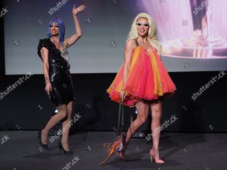Stock Picture of Rhea Litre, Willam. Rhea Litre, left, and Willam speak at the 71st Los Angeles Area Emmy Awards at the Saban Media Center at Television Academy's North Hollywood, Calif. headquarters on