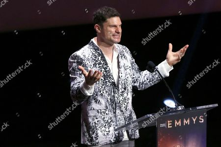 Stock Picture of Flula Borg speaks at the 71st Los Angeles Area Emmy Awards at the Saban Media Center at Television Academy's North Hollywood, Calif. headquarters on