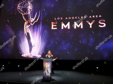 Stock Picture of Kether Donohue speaks at the 71st Los Angeles Area Emmy Awards at the Saban Media Center at Television Academy's North Hollywood, Calif. headquarters on