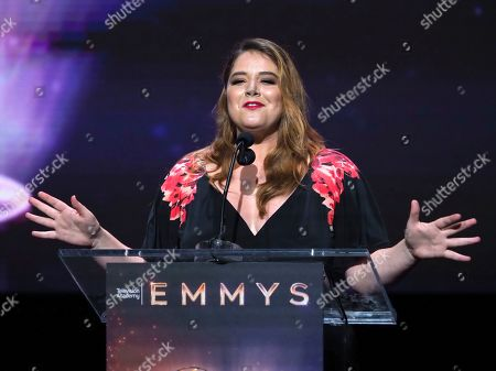 Stock Photo of Kether Donohue speaks at the 71st Los Angeles Area Emmy Awards at the Saban Media Center at Television Academy's North Hollywood, Calif. headquarters on