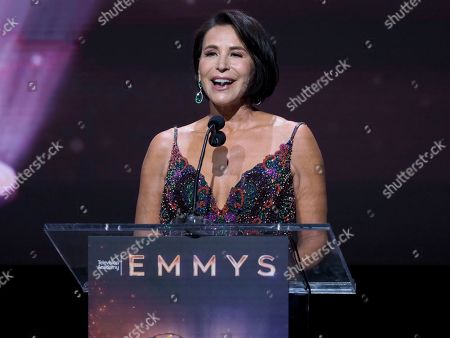 Giselle Fernandez speaks at the 71st Los Angeles Area Emmy Awards at the Saban Media Center at Television Academy's North Hollywood, Calif. headquarters on