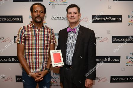 Colson Whitehead (L) about his book 'The Nickel Boys' The event is presented in partnership with Books & Books and Miami Book Fair at The Adrienne Arsht Center for the Performing Arts, Knight Center Hall