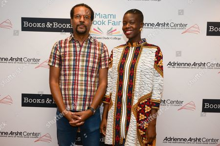 A evening with author Colson Whitehead (L) about his book 'The Nickel Boys' The event is presented in partnership with Books & Books and Miami Book Fair at The Adrienne Arsht Center for the Performing Arts, Knight Center Hall