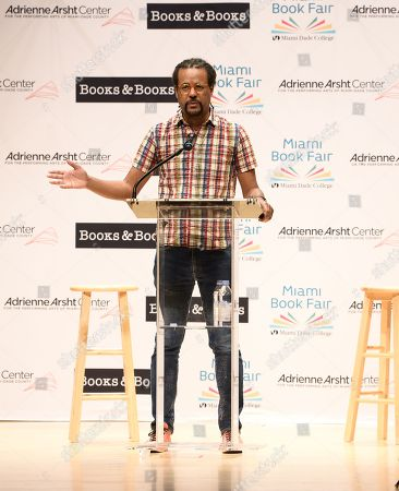 A evening with author Colson Whitehead about his book 'The Nickel Boys' The event is presented in partnership with Books & Books and Miami Book Fair at The Adrienne Arsht Center for the Performing Arts, Knight Center Hall