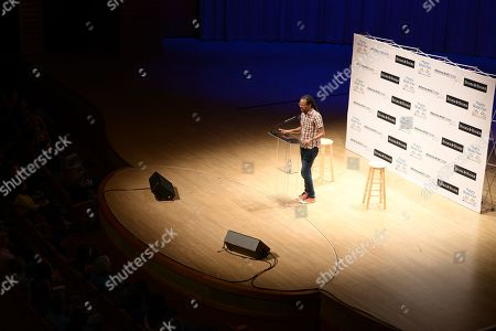 Stock Photo of A evening with author Colson Whitehead about his book 'The Nickel Boys' The event is presented in partnership with Books & Books and Miami Book Fair at The Adrienne Arsht Center for the Performing Arts, Knight Center Hall