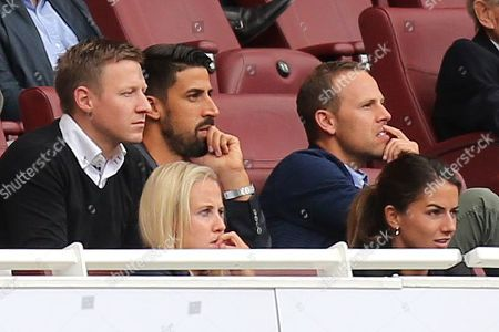 Sami Khedira of Germany and Juventus watches on from the Stand during Arsenal Women vs FC Bayern Munich Women, Emirates Cup Football at the Emirates Stadium on 28th July 2019