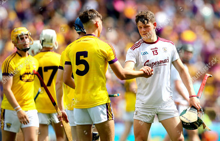 Stock Picture of Wexford vs Galway. Wexford's Justin Moran and Gavin Lee of Galway