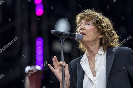 Jane Birkin performs on the main stage, during the 44th edition of the Paleo Festival in Nyon, Switzerland, 28 July 2019. The Paleo is an open-air music festival in the western part of Switzerland that runs from 23 to 28 July.