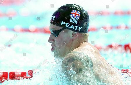 Adam Peaty (GBR) during the Men's 4x100m Medley Relay Final