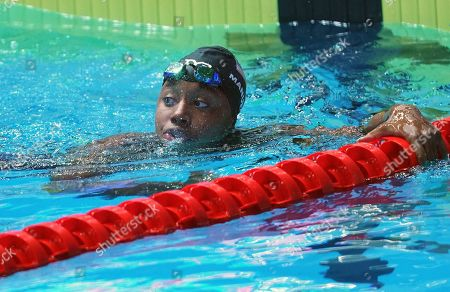 Stock Photo of Simone Manuel (USA) during the Women's 50m Freestyle Final
