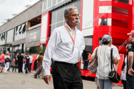 Motorsports: FIA Formula One World Championship 2019, Grand Prix of Germany,   Chase Carey (USA, CEO of Formula One Group),