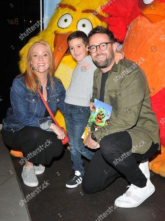 Stock Photo of Sarah-Jane Mee, Ben Richardson and Teddy Richardson