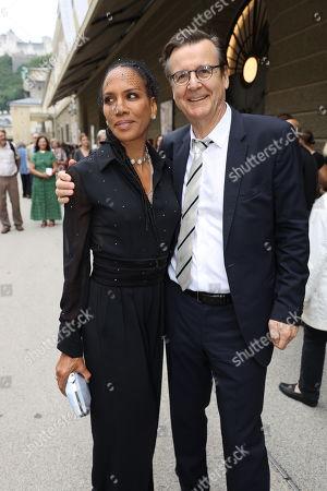 Barbara Becker and Hans Mahr